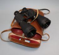 A cased pair of Lindermann Superview Binoculars c.1950, serial no.6267