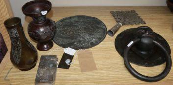 A quantity of mixed Asian metalwares