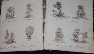 An 1826 autograph album / sketch book