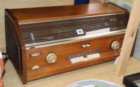 A 1950's Philips radiogram length 59cm