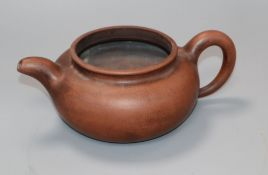 A Chinese redware teapot height 8cm