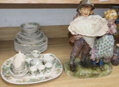 A Mason's Strathmore part dinner service and pottery group