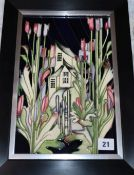 A Moorcroft 'House of Flowers' rectangular plaque, limited edition 179/250 overall 39 x 28cm (
