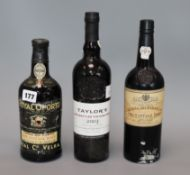A Royal Oporto vintage port 1970, Quinta do Panascal 1986 vintage port and a bottle of Taylor's 2003