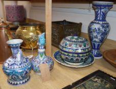 Five pieces of Persian ceramics