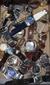 A quantity of assorted gentleman's and lady's wrist watches, including Seiko, Tissot, Poljot,