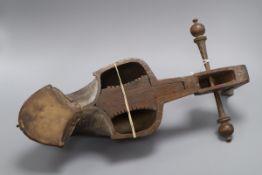 An Afghan carved Rubab, lacks strings