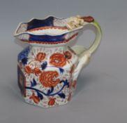 An Ironstone dragon handle water jug height 22cm
