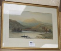 William H. Muller Hewitt (1848-1921) watercolour, Rydal Water, signed, 23 x 38cm.