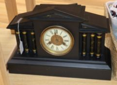 A black painted clock
