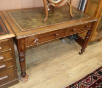 A Victorian mahogany writing table W.120cm