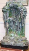 Alfred Jean Foretay (1861-1944) An early 20th century painted metal stalagtite grotto lamp, Height