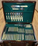 An Edwardian extensive table canteen of plated flatware and cutlery