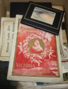 A group of watercolours, sketches, prints and ephemera, 19th/20th century