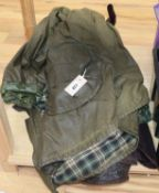 A vintage Barbour jacket and a Backhouse wax jacket
