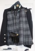 A Scots Greys dress suit, dagger and flask