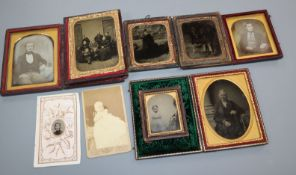 A collection of daguerreotype and ambrotypes etc., (Sawyer and Galing Family) 1784-1861