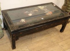 A Chinese rectangular coffee table W.120cm