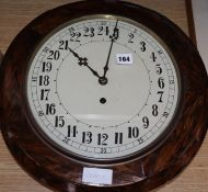 A French two day wall clock