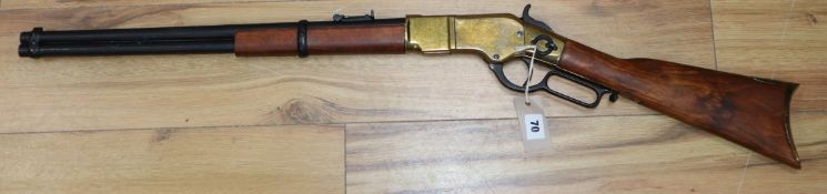 A model Winchester rifle