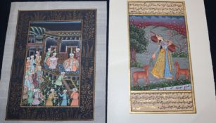 Two Indian gouaches