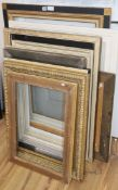 Eleven assorted picture frames