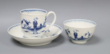 A Worcester waiting Chinaman trio, c.1760