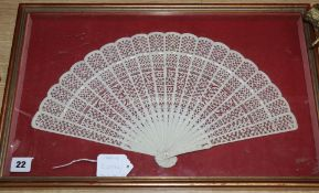 A framed bone brise fan
