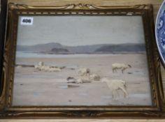 James Hamilton Mackenzie (1875-1926), oil on card, 'On The Sands', signed, 24 x 32cm