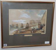 Hunt after Campion, coloured aquatint, Chain Pier, Brighton, 24 x 37cm