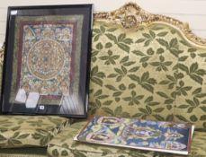 Two Tibetan thangkas 61 x 49cm