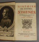 Fléchier, Esprit - Histoire de Cardinal Ximenes, 2 vols in one, 8vo, calf, with engraved portrait