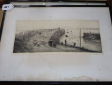 William Lionel Wyllie, three etchings, Leith and North Shields & another, signed in pencil, 16 x