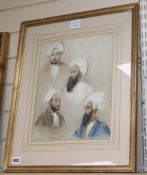 E E after Lieutenant James Rattray 1841, coloured lithograph, Portraits of Hyder Khan and his family