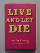 Fleming, Ian - Live and Let Die, 2nd impression (4), 240pp including half title, dj, cr.8vo, Cape