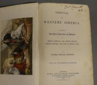 Atkinson, Thomas Witlam - Oriental and Western Siberia, 1st edition, 8vo, original cloth gilt,