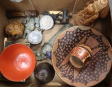 A group of assorted artefacts: India, South America, Straits etc (13)