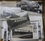 A quantity of photographs and postcards, mainly railway interest