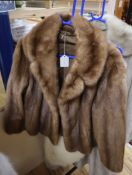 A brown mink jacket