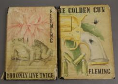 Fleming, Ian - You Only Live Twice, 1964 and The Golden Gun, 1965, both 1st editions, each in torn
