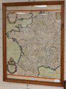 S. Sanson, Carte Particuliere des Postes de France, Chez Jailott and dated 1693, hand coloured