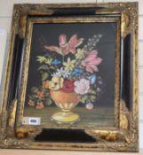 Brigitte Corvec, pastel on paper, Still life of flowers, 40 x 31.5cm