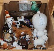 A quantity of mixed animal ornaments