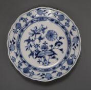 A Meissen blue and white onion dish diameter 22cm