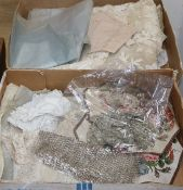A collection of handmade bobbin lace, Irish crochet and machine laces etc
