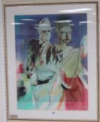 Jack Miller, lithograph, 'The Hedonists', apparently signed in pencil, 84 x 64cm