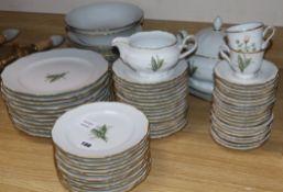 A Christineholm porcelain part dinner service
