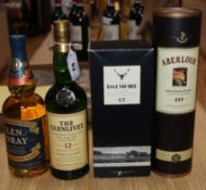 Four bottles of single malt Scotch whisky