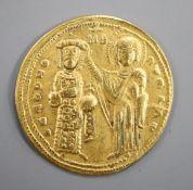 Byzantine Empire, Romanus III (1028-1034), gold histamenon, Christ enthroned, rev., Romanus