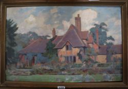 Carl Felkel (1896-1973), oil on canvas, Polshot Farm, Elstead, Godalming, Surrey, signed on the